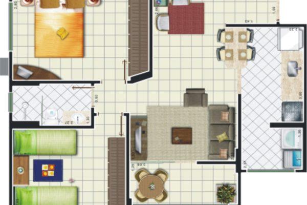 08 - Planta Apartamento Edifício 1 PA