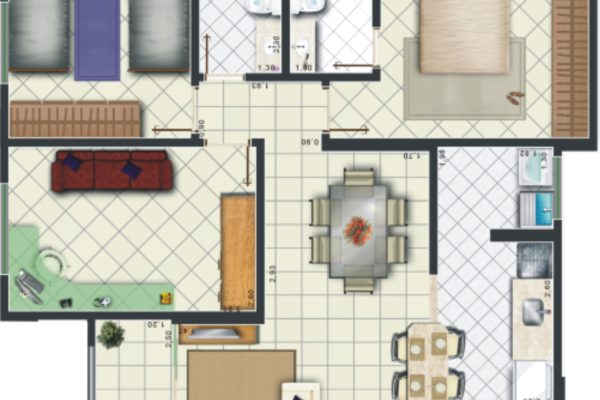 09 - Planta Apartamento Edifício 2 PA
