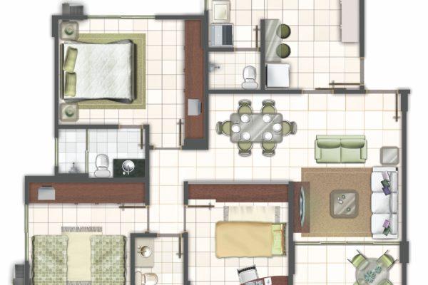 10 - Planta do Apartamento PB